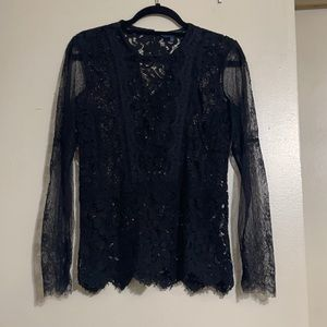 Lucky Brand lace longsleeve top